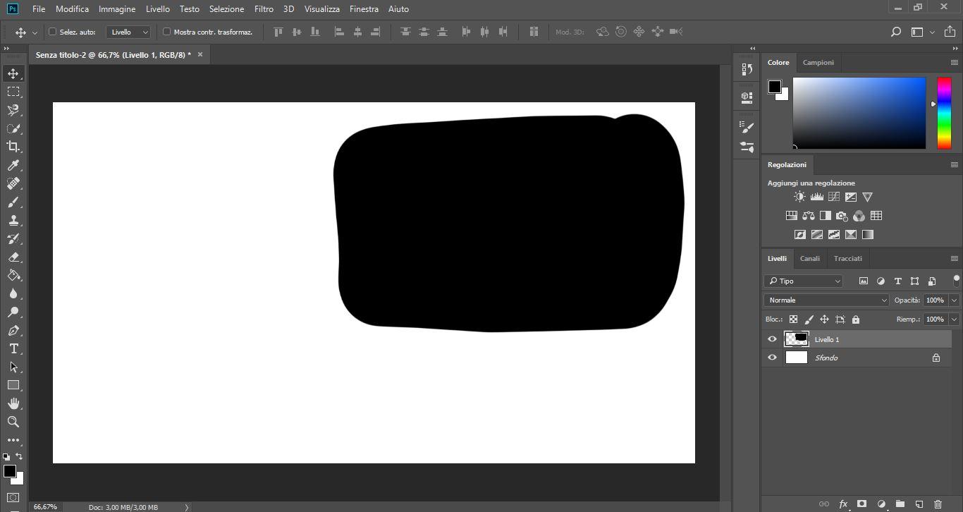 Photoshop: guida all'interfaccia e agli strumenti per il disegno 3