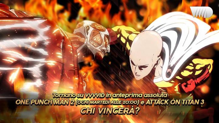 Dynit e VVVVID annunciano l'arrivo di One Punch Man 2 e Attack on Titan 3: Parte 2