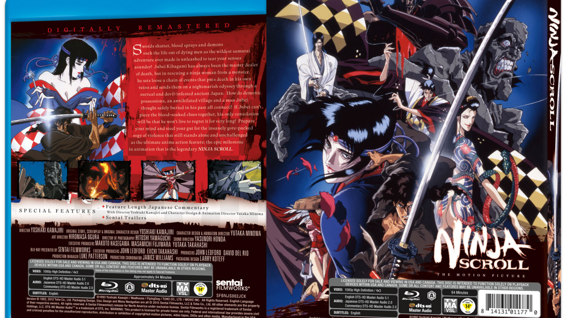 Ninja Scroll: tutti i dettagli dell'edizione Blu-Ray